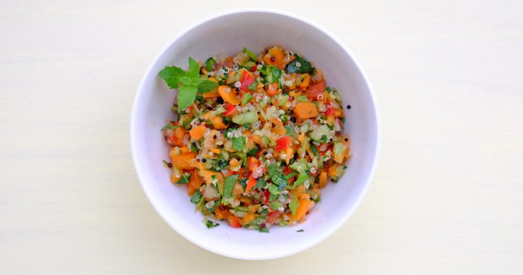 キヌアサラダ 梅ドレッシング Quinoa salad with Japanese sour plum dressing