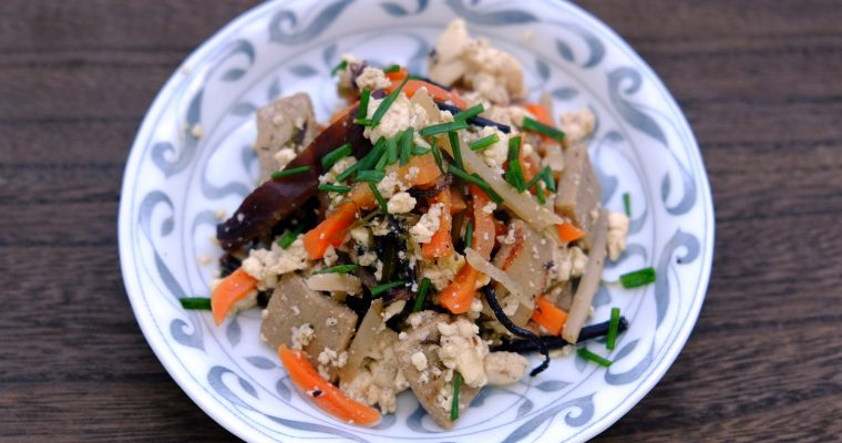 五目炒り豆腐 Vegan Scrambled vegetables and Tofu