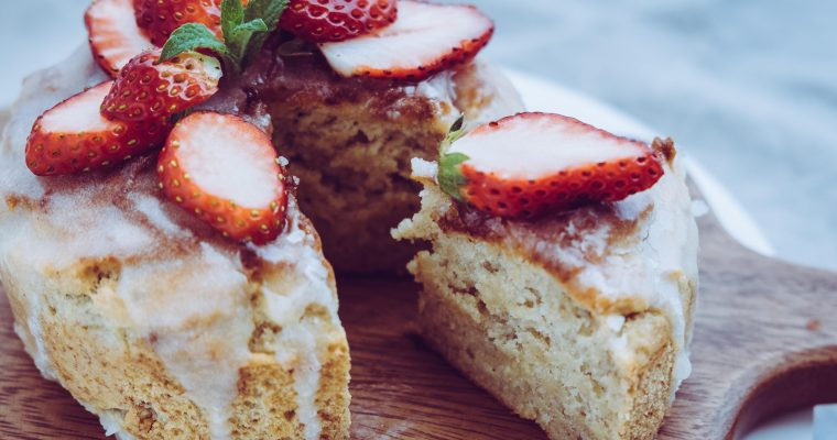 いちごとバナナのパウンドケーキ Vegan & Gluten Free Strawberry and Banana Pound Cake