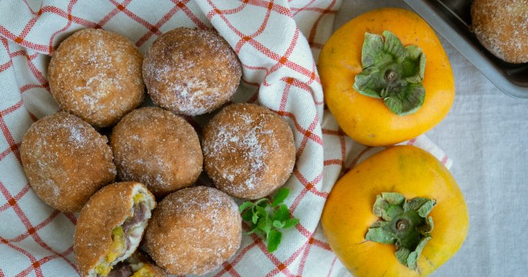 Collaboration with BIO Marche Vol.14 – 有機種なし柿あんドーナツ Vegan and gluten free organic persimmon and sweet beans donut