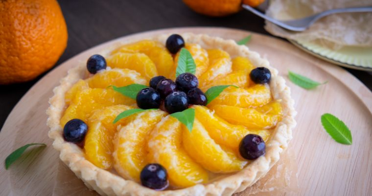 Collaboration with BIO Marche Vol.25 – 有機不知火のチャイ風味タルト Vegan orange chai tart
