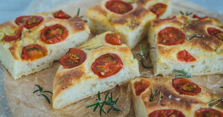 Collaboration with BIO Marche Vol.28 – 有機ミニトマトのポテトフォカッチャ Vegan organic Potato focaccia with tomatoes